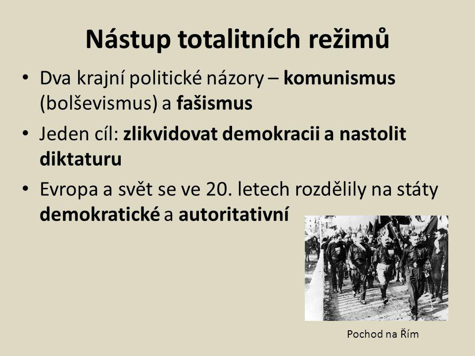 Nástup totalitních režimů