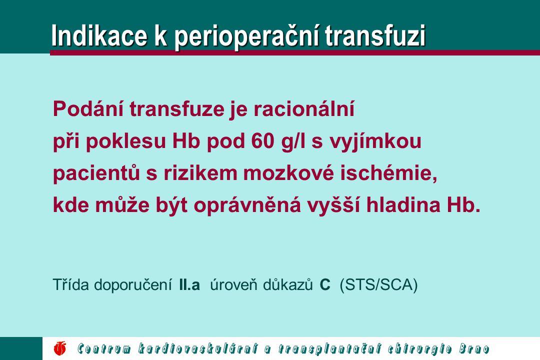 Indikace k perioperační transfuzi