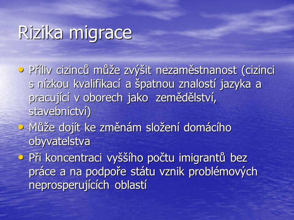 Rizika migrace