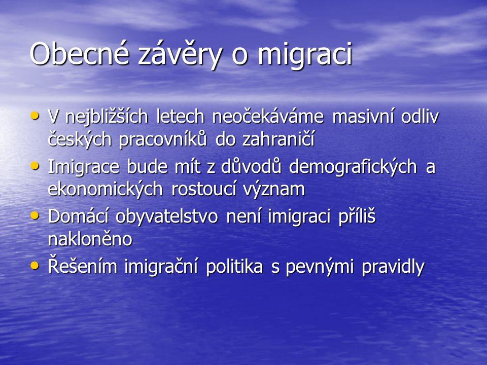 Obecné závěry o migraci