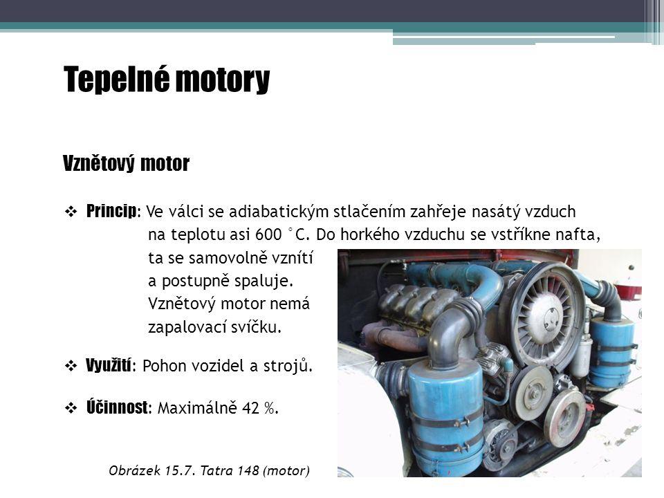 Tepelné motory Vznětový motor