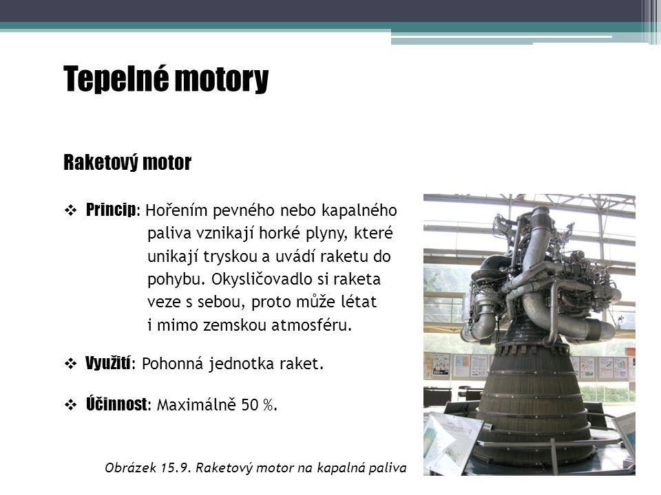Obrázek 15.9. Raketový motor na kapalná paliva