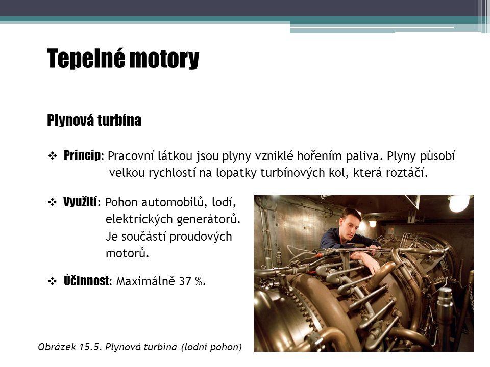 Obrázek 15.5. Plynová turbína (lodní pohon)