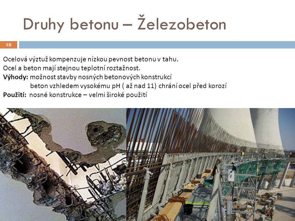 Druhy betonu – Železobeton