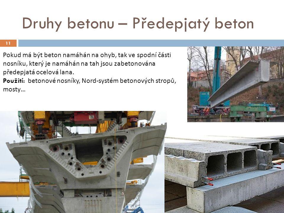 Druhy betonu – Předepjatý beton