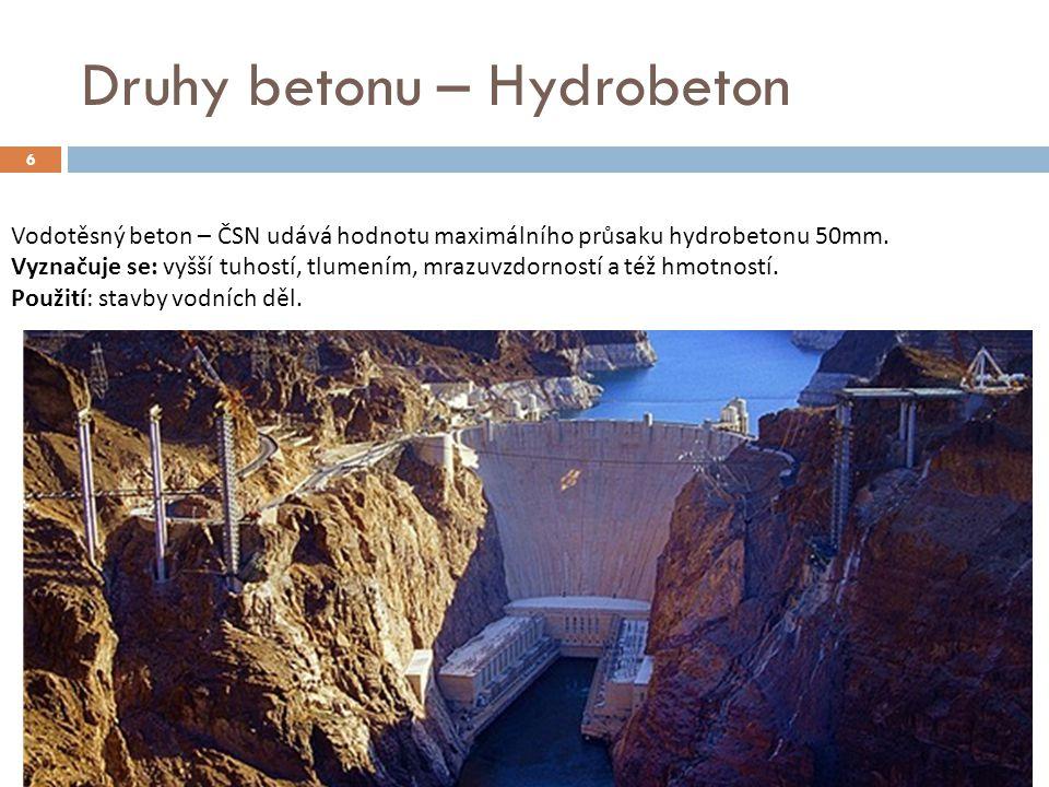 Druhy betonu – Hydrobeton