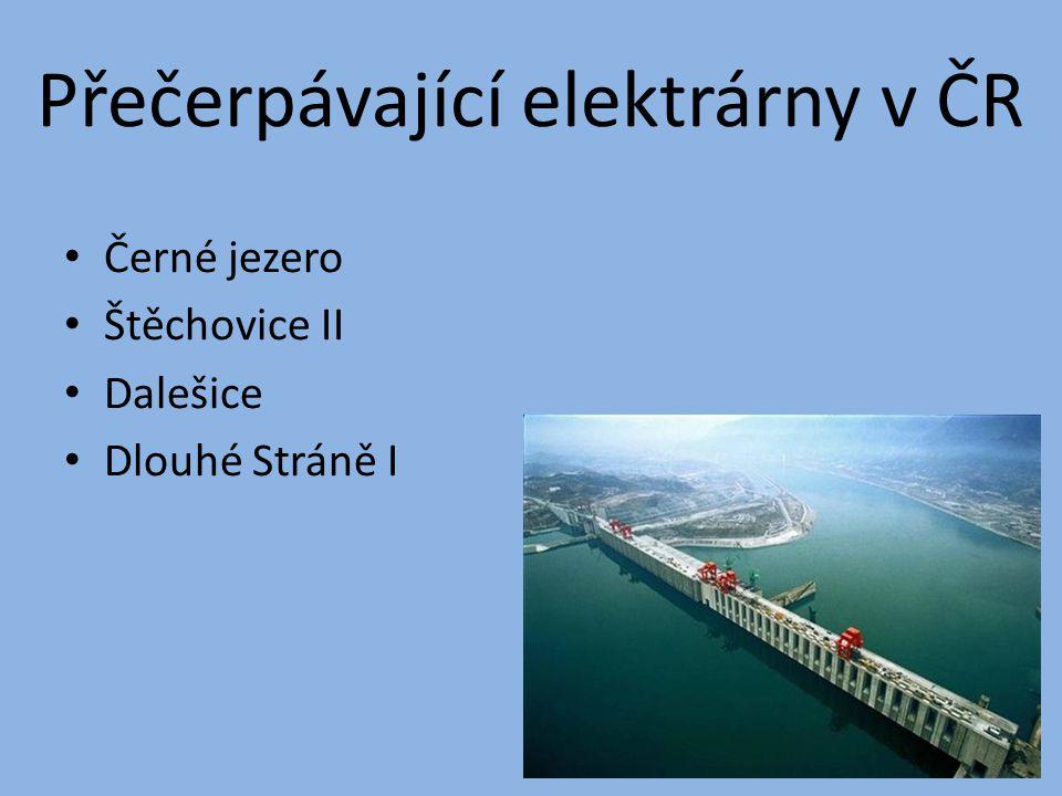 Přečerpávající elektrárny v ČR