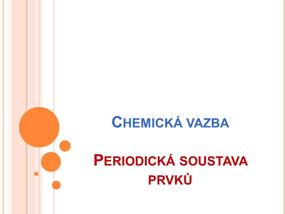 Chemická vazba Periodická soustava prvků