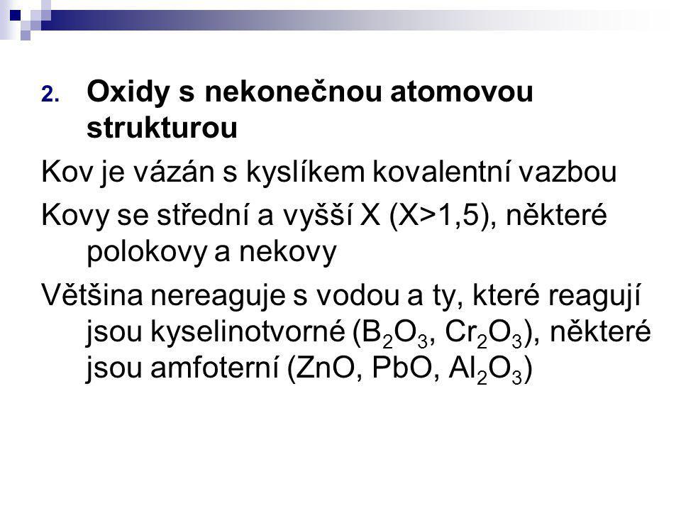 Oxidy s nekonečnou atomovou strukturou