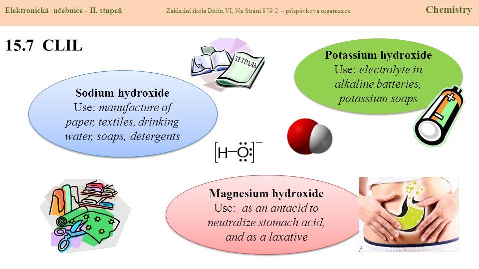 15.7 CLIL Potassium hydroxide
