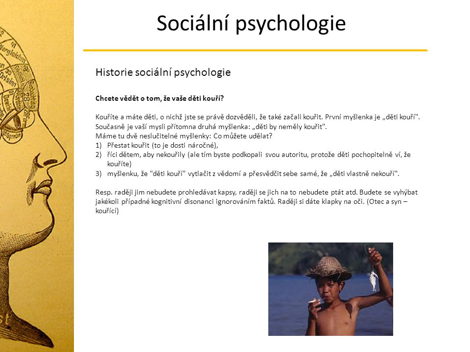 Sociální psychologie Historie sociální psychologie