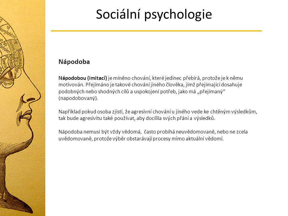 Sociální psychologie Nápodoba