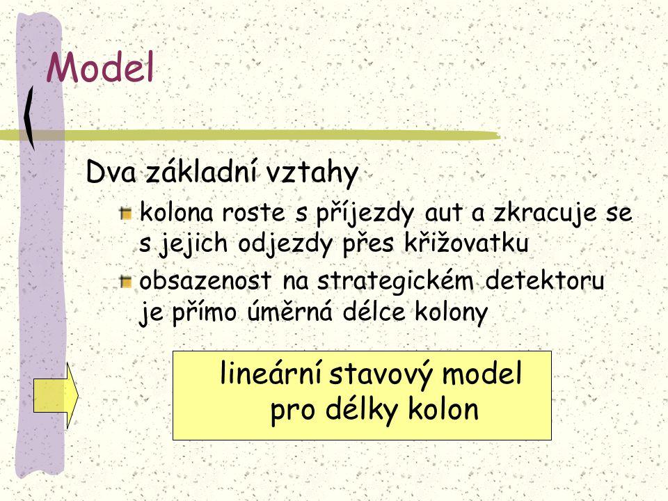 lineární stavový model pro délky kolon