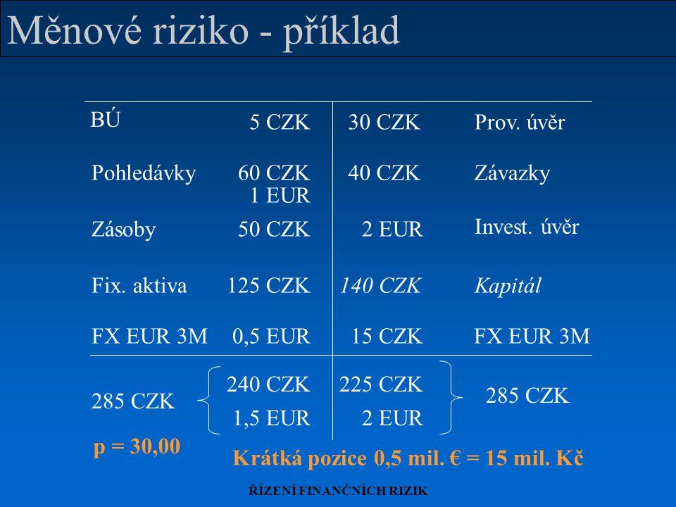 Měnové riziko - příklad