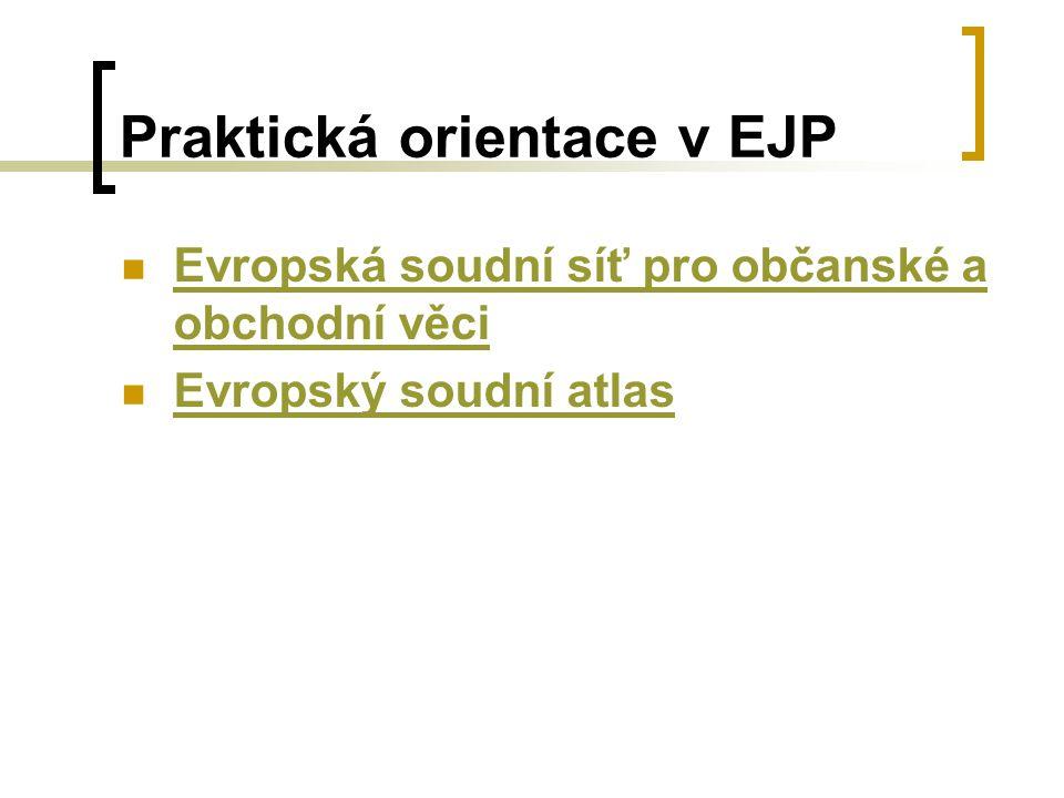 Praktická orientace v EJP