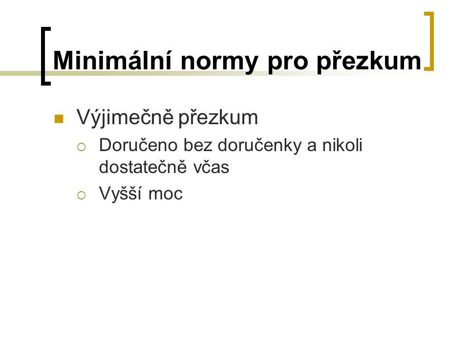 Minimální normy pro přezkum
