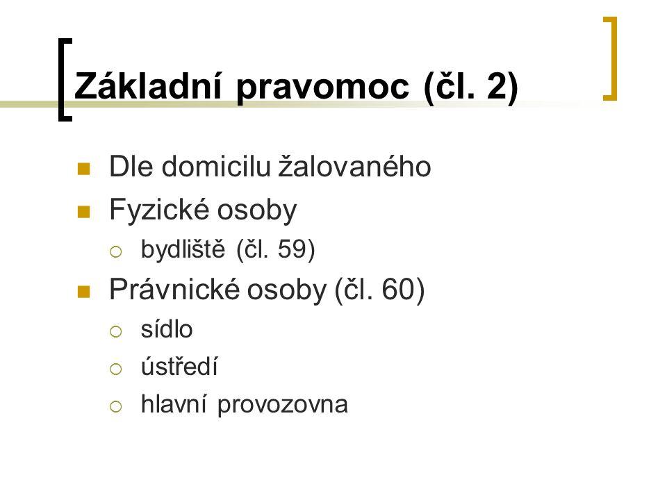 Základní pravomoc (čl. 2)