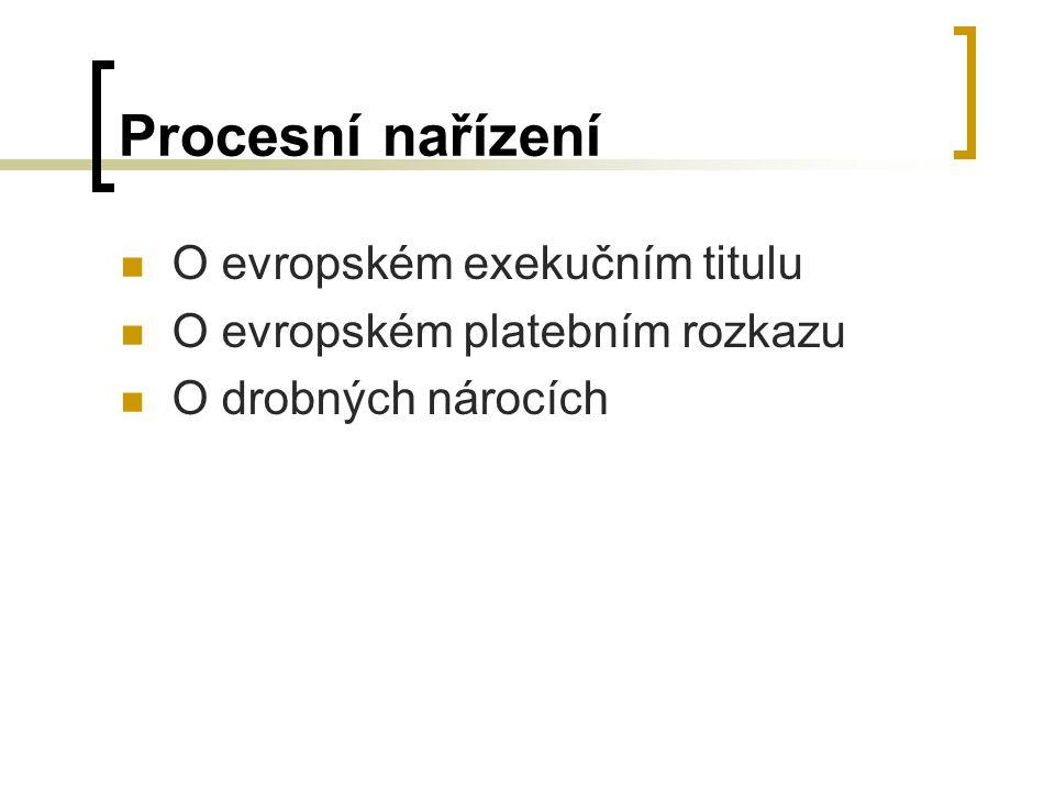 Procesní nařízení O evropském exekučním titulu