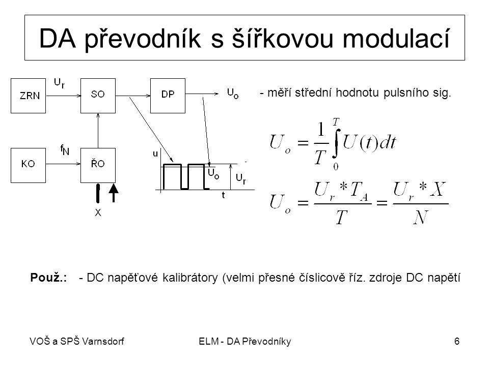 DA převodník s šířkovou modulací