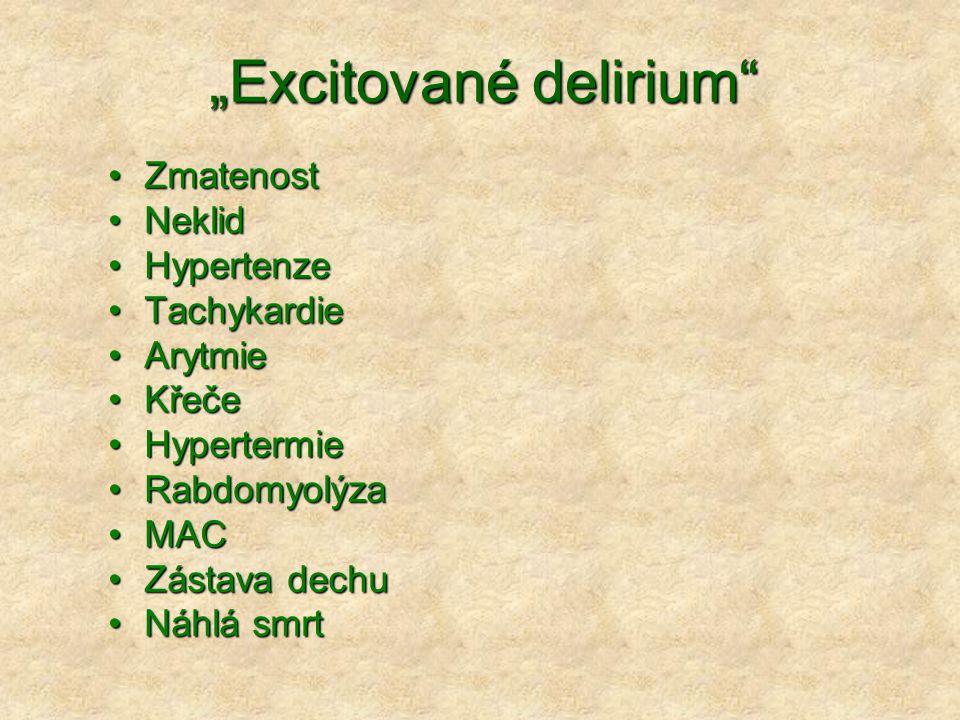 """""""Excitované delirium"""