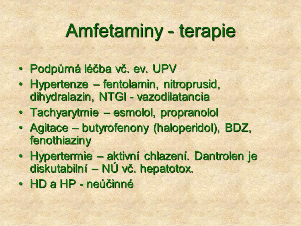 Amfetaminy - terapie Podpůrná léčba vč. ev. UPV