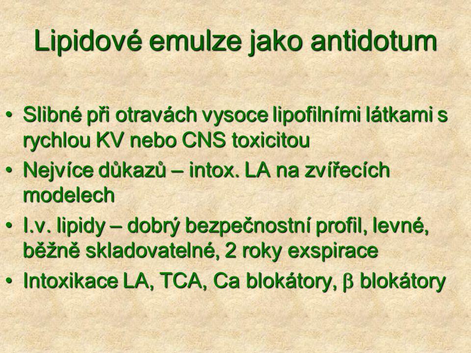 Lipidové emulze jako antidotum