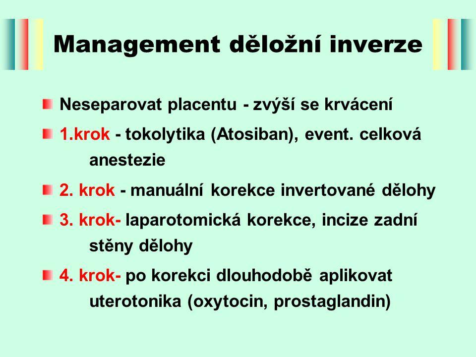 Management děložní inverze