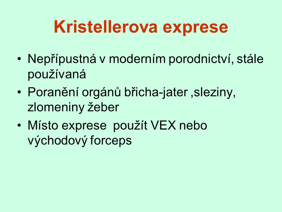 Kristellerova exprese