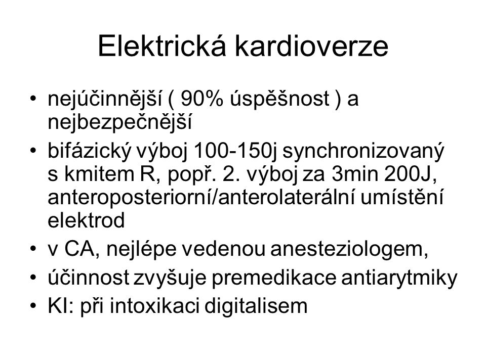 Elektrická kardioverze
