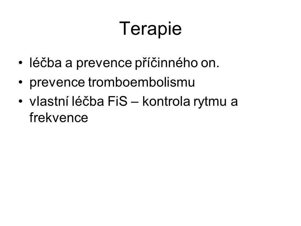 Terapie léčba a prevence příčinného on. prevence tromboembolismu