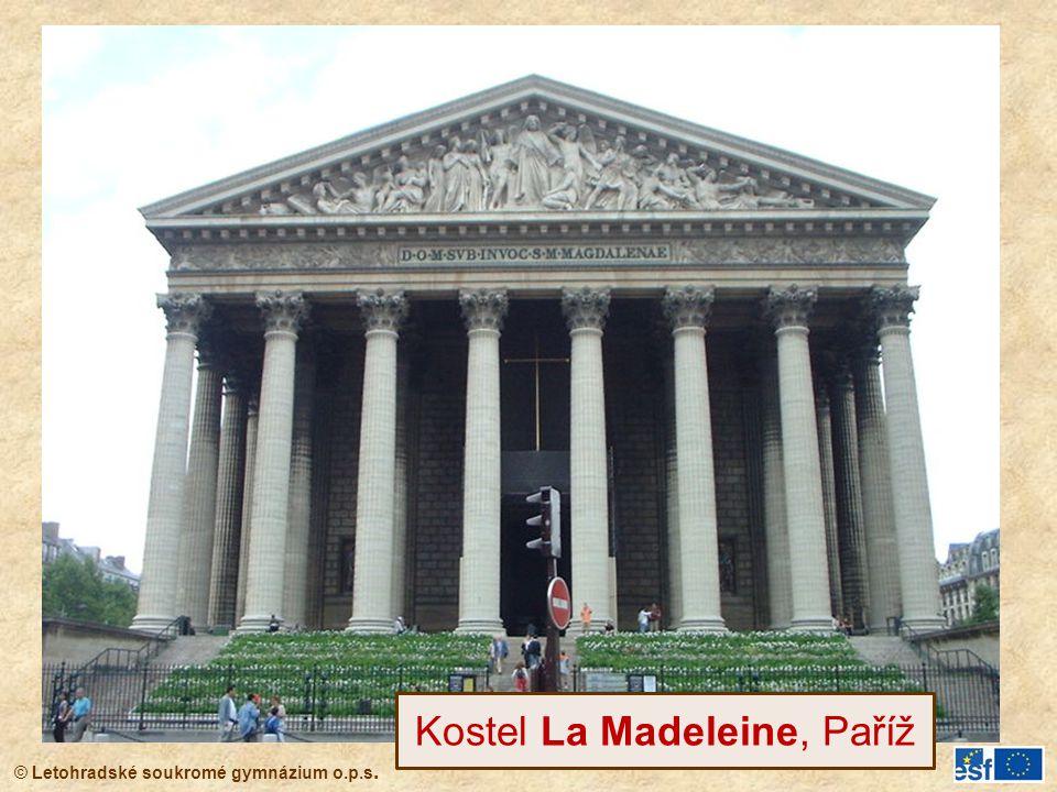 Kostel La Madeleine, Paříž
