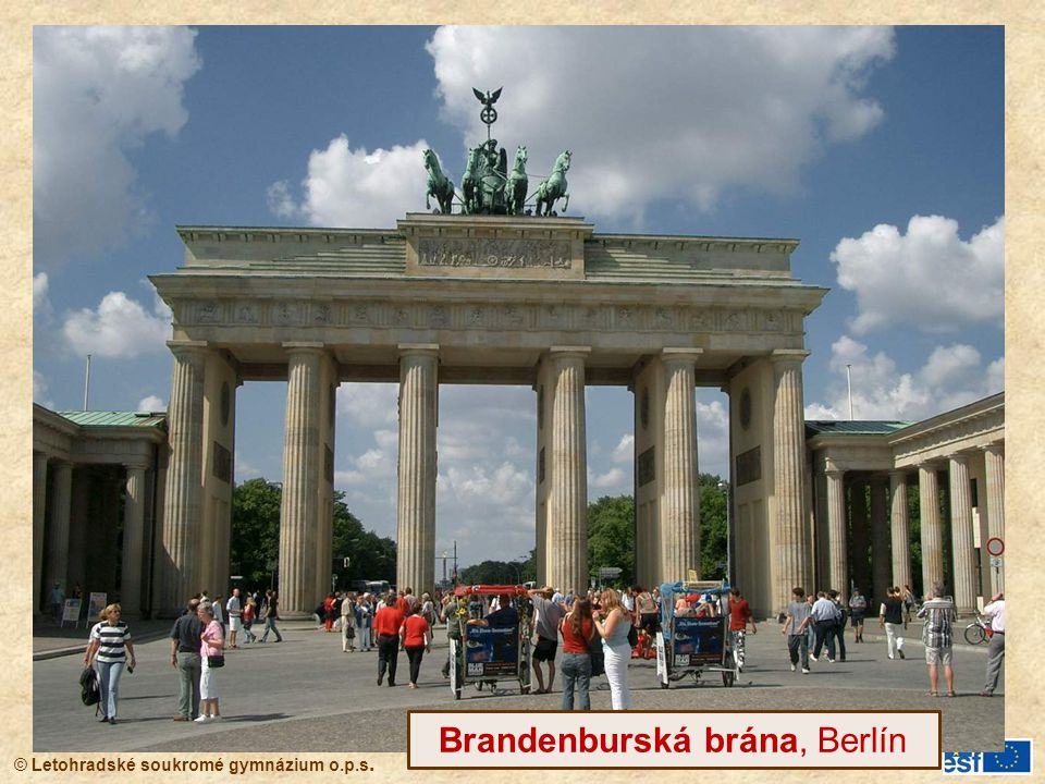 Brandenburská brána, Berlín
