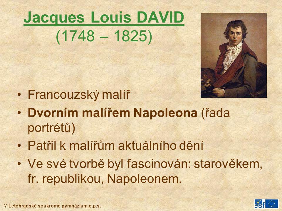 Jacques Louis DAVID (1748 – 1825)