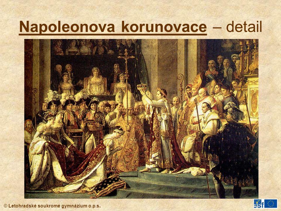 Napoleonova korunovace – detail