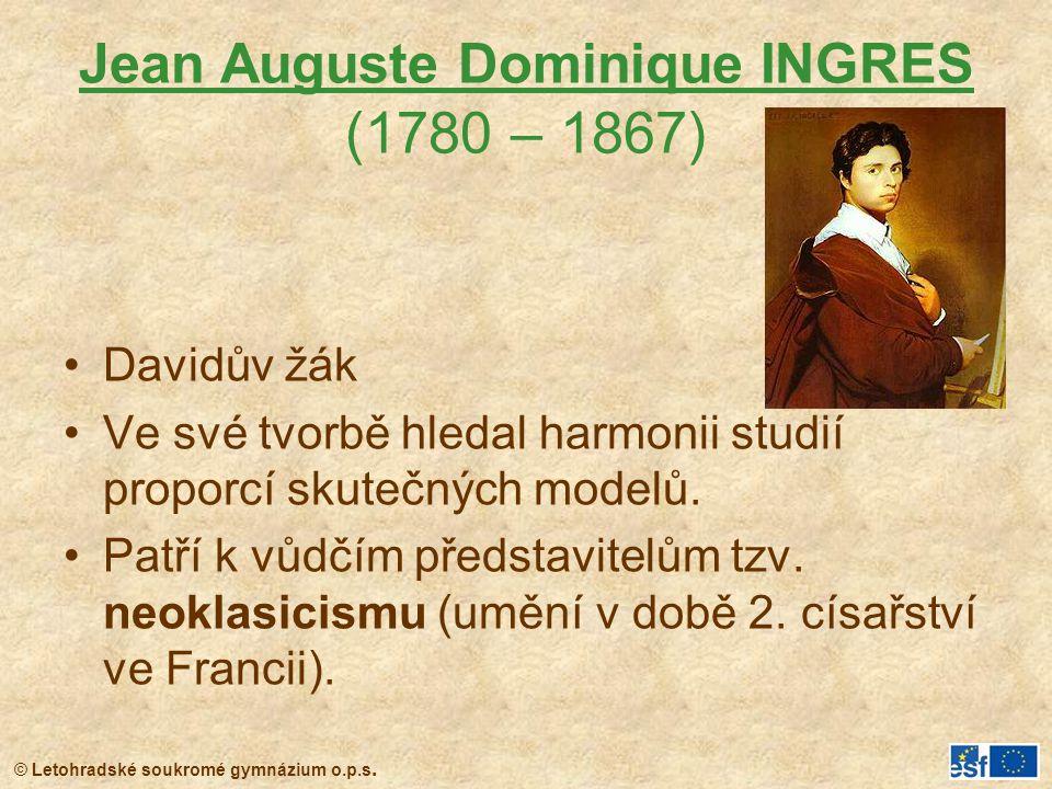 Jean Auguste Dominique INGRES (1780 – 1867)