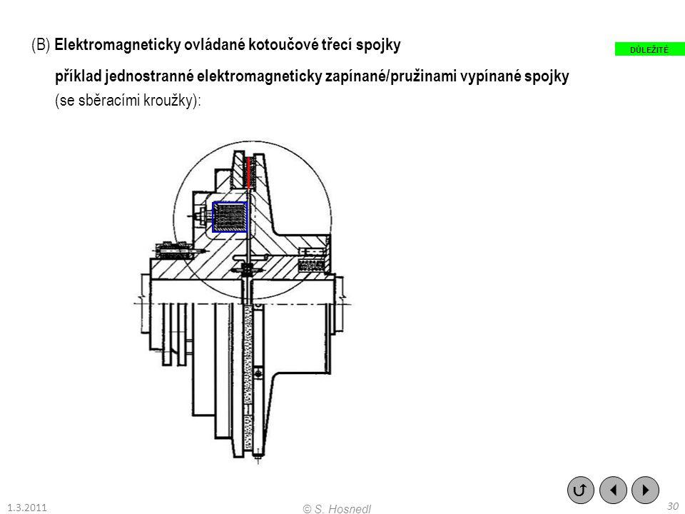 (B) Elektromagneticky ovládané kotoučové třecí spojky