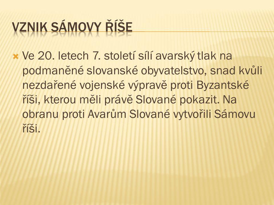 Vznik Sámovy říše