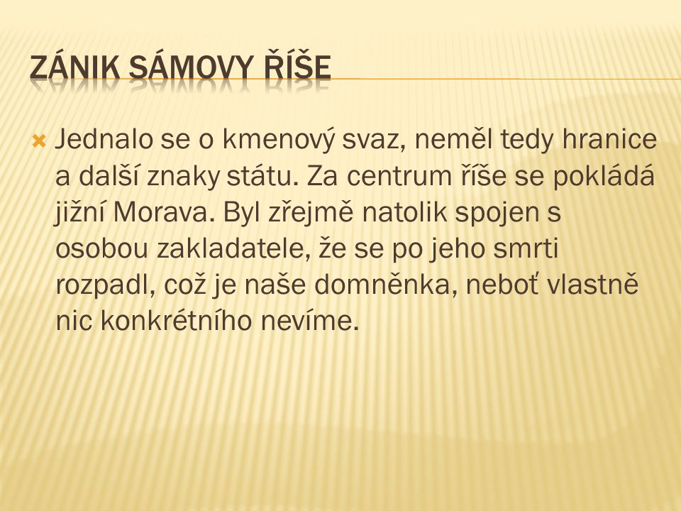 Zánik Sámovy říše