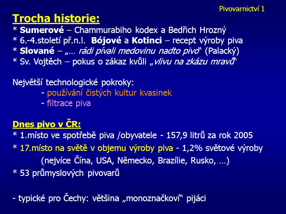 Trocha historie: * Sumerové – Chammurabiho kodex a Bedřich Hrozný