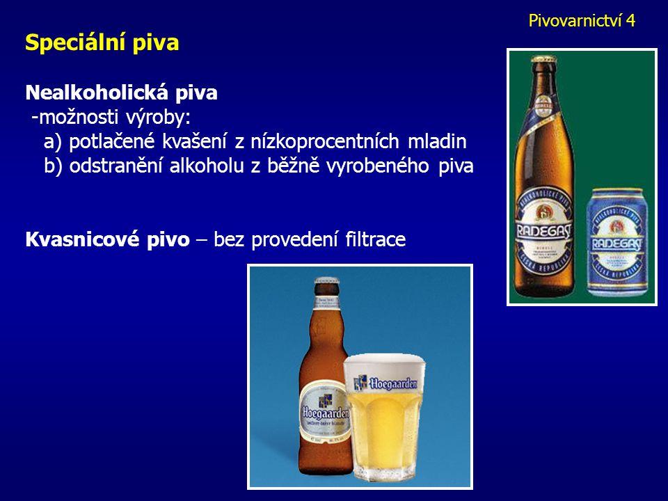 Speciální piva Nealkoholická piva -možnosti výroby: