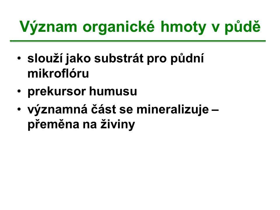 Význam organické hmoty v půdě