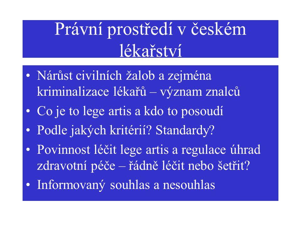 Právní prostředí v českém lékařství