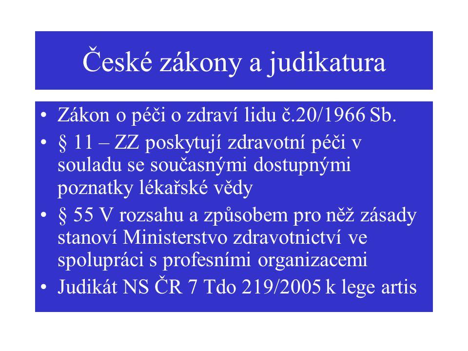 České zákony a judikatura