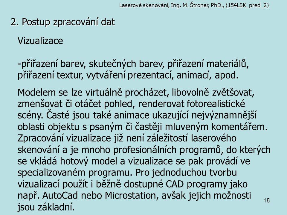 2. Postup zpracování dat Vizualizace