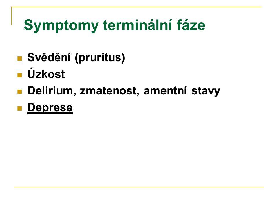 Symptomy terminální fáze
