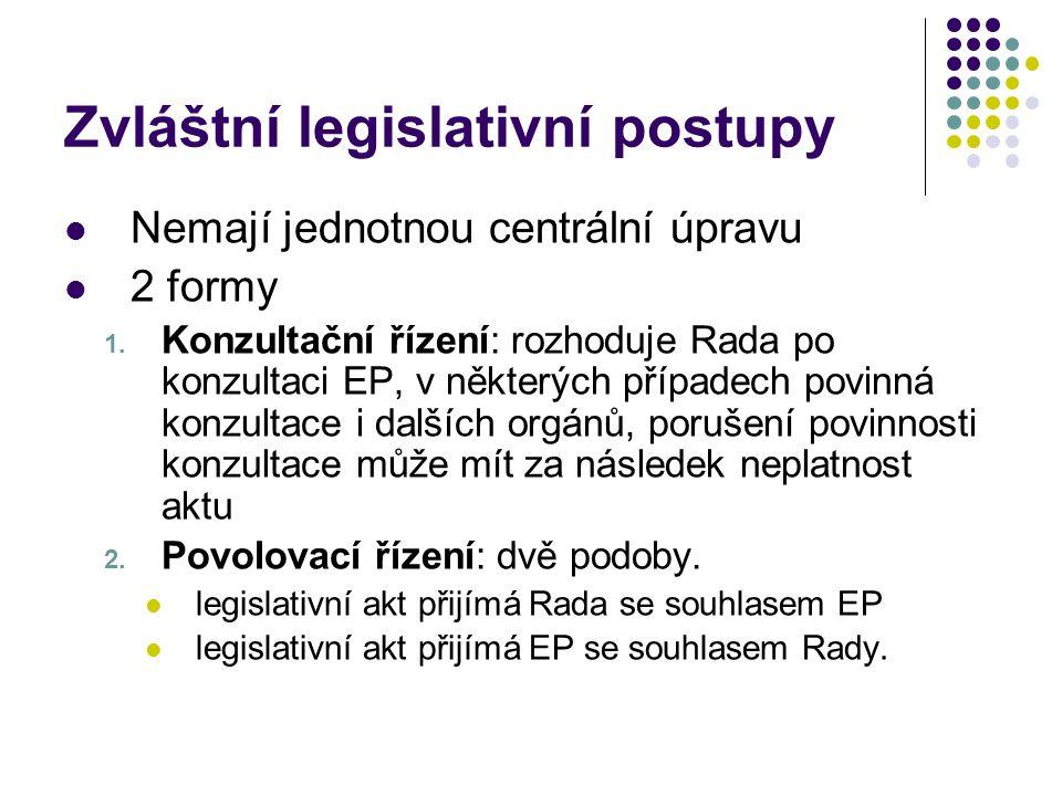 Zvláštní legislativní postupy