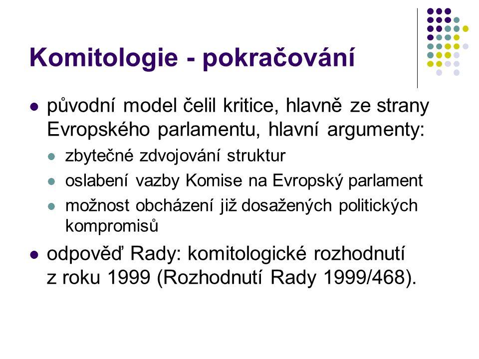 Komitologie - pokračování