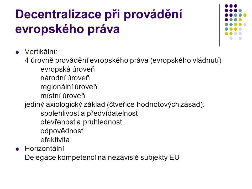 Decentralizace při provádění evropského práva