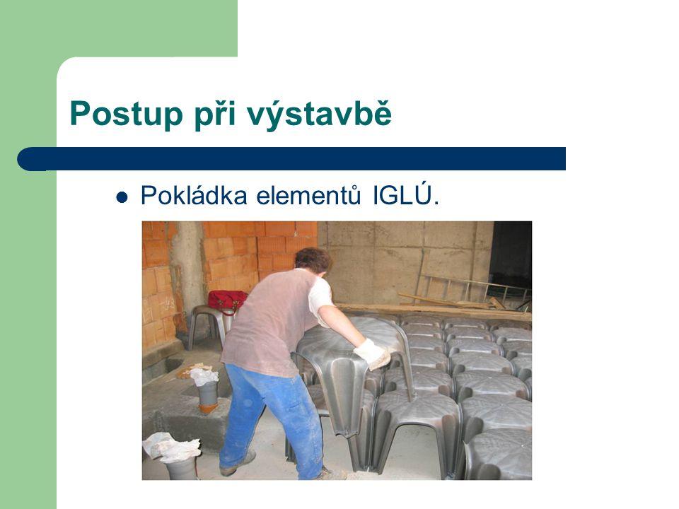 Postup při výstavbě Pokládka elementů IGLÚ.