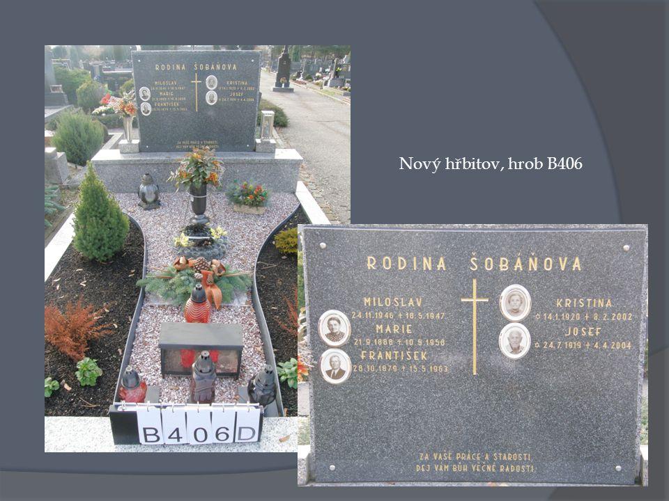 Nový hřbitov, hrob B406